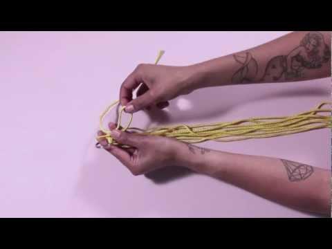 To DIY For - How to make a macramé pot holder