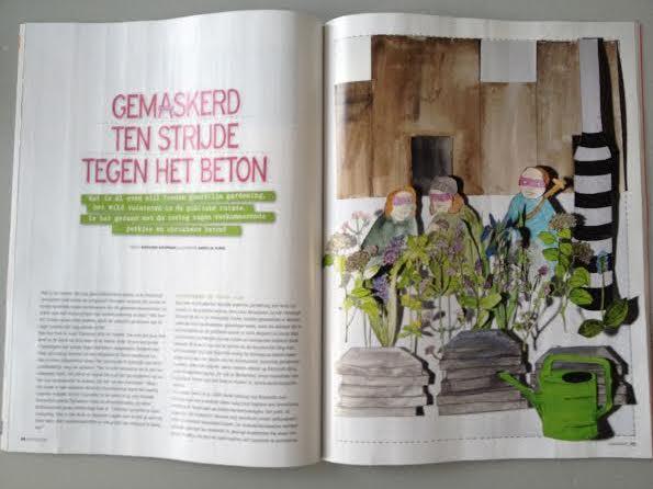 Buitenleven guerilla gardening Nederland