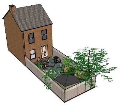 Maak gratis je eigen tuinontwerp met sketchup tuin en balkon for Eigen moestuin ontwerpen en aanleggen