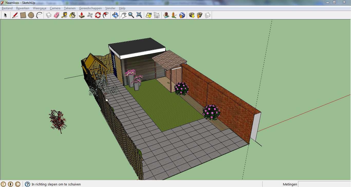 Maak gratis je eigen tuinontwerp met sketchup tuin en balkon