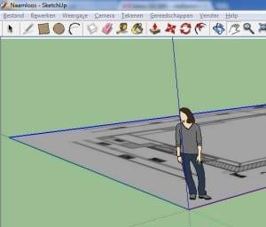 Van plattegrond naar tuinontwerp met sketchup deel 2 for 3d tekenen op computer