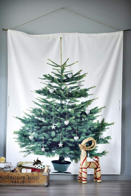 ikea kerstboom van stof 2012