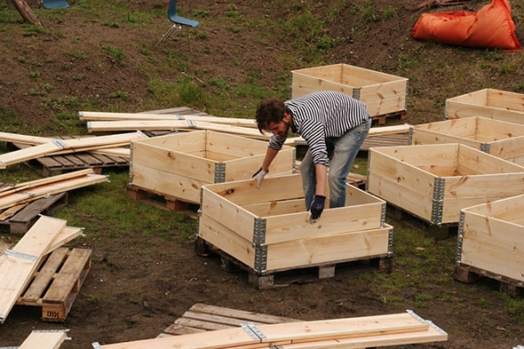 Mobiele moestuinen op westplein in utrecht tuin en balkon for Mobiele woning in de tuin