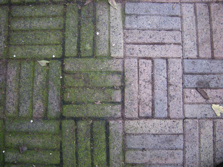 schoonmaakazijn tegels tuin