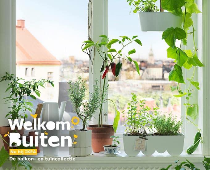 Nieuwe ikea tuin en balkon collectie gericht op kweken eigen groenten en kruiden tuin en balkon - Groenten in potten op balkons ...