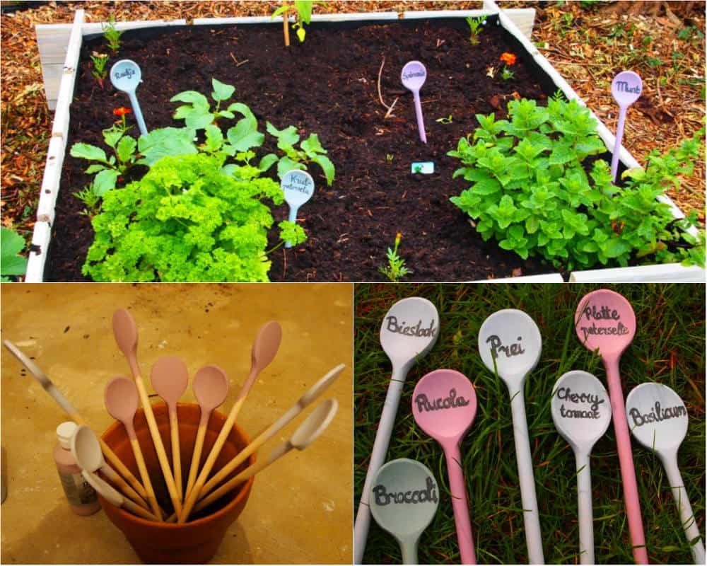 Moestuin Zelf Maken : Zelf plantenstekers maken tuin en balkon