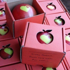 Stenciled apple